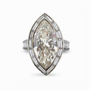 Marquise Cut Diamond Cluster Ring 5.03ct I / J VVS Anchor Cert